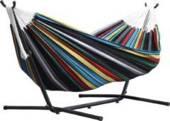SORARA Outdoor Living Hangmat / Ligbed | SORARA | Gestreept (Rio Nights) | Robuust | Voor 2 personen / 2 persoons | Hoogwaardige Kwaliteit