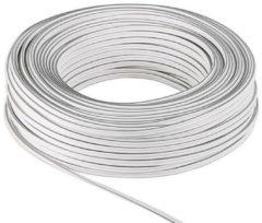 Goobay Loudspeaker cable white 100 m spool, cable diameter 2 x 4,0 mm? - Goob