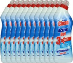 At Home Clean Active Gel - Toiletreiniger - 12 x 750 ml - Voordeelverpakking