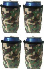 Koozie.eu 4 x Camouflage koelhoud blikjes hoes - bierblik hoesjes