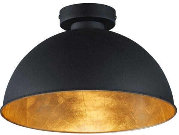Afbeelding van Gouden Reality Leuchten Trio Lighting Magna Eco - Plafondlamp - 1 lichts - Ø 310 mm - zwart