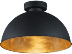 Gouden Reality Leuchten Trio Lighting Magna Eco - Plafondlamp - 1 lichts - Ø 310 mm - zwart