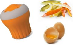 CREATION JEAN DUBOST Magnetron taartjes-maker, Jean Dubost Design, u ontvangt 2 stuks ! Oranje