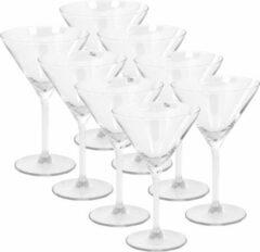 Transparante Merkloos / Sans marque 8x Cocktailglazen/martiniglazen 260 ml van glas - 26 cl - Keukenbenodigdheden - Bar/cafebenodigdheden - Glazen - Martiniglazen - Cocktailglazen