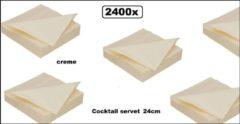 Creme witte DIDI 2400x Cocktail servet 24cm 2 laags creme- tissue servetten diner takeaway feest event festival trouwen