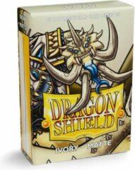 Trading Card Game Dragon Shield Card Sleeves: Japanese Matte Ivory (59x86mm) - 60 stuks