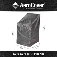Antraciet-grijze AeroCover Stapelstoelhoes of gasveerstoelhoes 67x67x80-110cm
