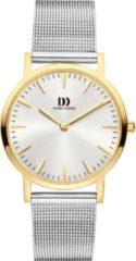 Gouden Danish Design watches edelstalen dameshorloge London Silver Two-Tone Medium Mesh IV65Q1235