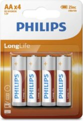 Philips Aa 4 Stuks Longlife Zinc Air Batterij