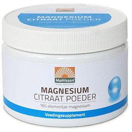 Afbeelding van Mattisson HealthStyle Magnesium Citraat Poeder 200gr