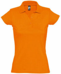Oranje Polo Shirt Korte Mouw Sols PRESCOTT CASUAL DAY
