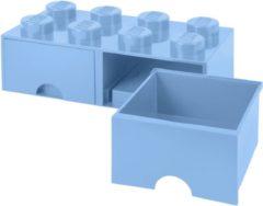 Blauwe LEGO Opberglade 8 Brick Knoppen - 2 Laden (Licht Royal Blauw)