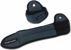 Tunturi Enkel-/polsgewichten 1 Kg Blauw/zwart 2 Stuks
