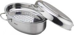 Zilveren Kinghoff 3686 braadpan - 7,9L - rvs - alle warmtebronnen