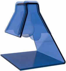 Vesta Lampada Abat -Jour in plexiglass trasparente modello 20x17xh21 cm - 40 W -E 14 BULB celeste