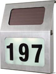 Grijze EGLO SOLAR Huisnummerverlichting voor buiten Roestvrijstaal