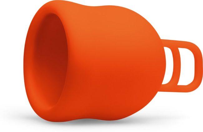 Afbeelding van Merula menstruatie cup XL fox oranje - menstruatiecup