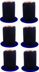 Marineblauwe Koozie.eu 6 stuks Navy Blauwe bier - frisdrank blik koelhoud hoesjes |bierblik hoesjes | Festival | Vakantie | Strand | Carnaval
