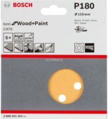 Stayer Bosch C470 Schleifblatt, 5er-Pack für Exzenterschleifer 2608605062