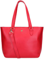 FMME Schoudertas Caithy Laptop Business Bag Grain 13.3 Inch Rood