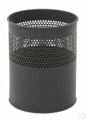 Vepabins Papierbak / prullenbak geperforeerd - 10L - zwart