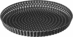 Grijze 4Goodz Geperforeerde Quichevorm/taartvorm met uitneembare bodem 28cm