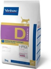 HPM Veterinary VIRBAC HPM feline dermatology support D1 3KG