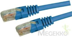 Blauwe Advanced Cable Technology ACT CAT5E U/UTP netwerkkabel 3 meter - Blauw