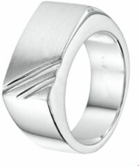 The Jewelry Collection For Men Ring Poli/mat - Zilver