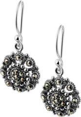 Zilveren The Jewelry Collection Oorhangers Marcasiet - Zilver Geoxideerd