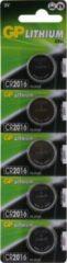GP batterijen CR2016 Knoopcel Lithium 3 V 90 mAh GP Batteries CR2016 5 stuk(s)