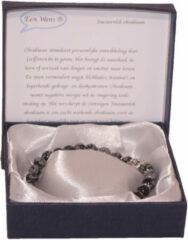Een Wens Halfedelstenen Armband in Geschenkdoos Sneeuwvlok Obsidiaan