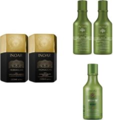 Inoar Moroccan keratine behandeling incl. verzorging ( Argan Oil shampoo, conditioner en leave-in )