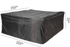 Antraciet-grijze Loungesethoes 255x255xH70 cm - AeroCover