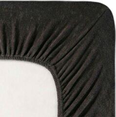 Antraciet-grijze Fluweel Zachte Badstof Hoeslaken Lits-jumeaux Antraciet | 160x200/210/220 | Hoogwaardige Kwaliteit | Perfecte Pasvorm