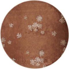 Bruine Essenza Lauren vloerkleed met bloemenprint
