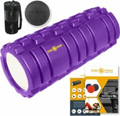 Paarse Rising-Phoenix RP® Foam Roller inclusief Massage Bal Foamroller Massage Roller & Massagebal - Met Tas, Triggerpoint Bal, Workout eBook & Poster