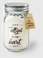 Witte Paper dreams Black & White geurkaars - Altijd in mijn hart