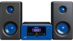 Lenco MC-020 Kompaktanlage mit Bluetooth FM Radio und USB, blau