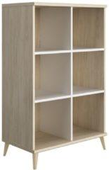 Gamillo Furniture Open boekenkast Artefact 126 cm hoog in eiken