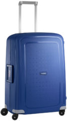 Blauwe Samsonite S'Cure Spinner 69 dark blue Harde Koffer