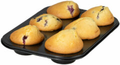 Zwarte Sareva Muffinvorm 6 Muffins Large