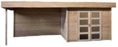 Woodvision Topvision | Blokhut Bosuil met zijluifel 400 cm | Geimpregneerd-groen