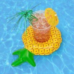 Bolletje products Opblaasbare Ananas Drankhouder - Bekerhouder - geschikt voor in het zwembad - voor in de jacuzzi - Drijvend