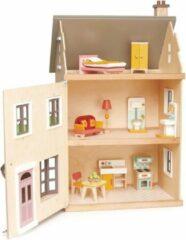 Tenderleaftoys Tender Leaf Toys Poppenhuis Villa Met Meubels 16-delig