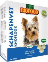 Biofood Schapenvet Mini 80 stuks - Hondensnacks - Knoflook&Schapenvet - Hondenvoer