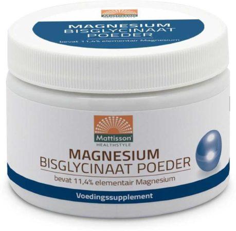 Afbeelding van Mattisson / Magnesium Bisglycinaat Poeder 11,4% elementair magnesium - 200 gram