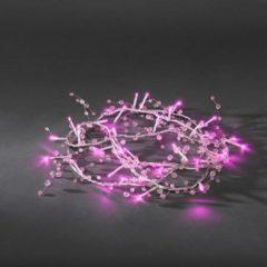 Micro-lichtketting Binnen werkt op het lichtnet 32 LED Roze Verlichte lengte: 2 m Konstsmide 3172-343