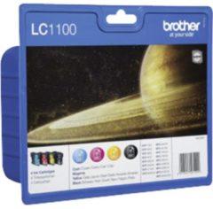 Brother Sparpaket 4 Tintenpatronen LC-1100BK/C/M/Y schwarz, cyan, magenta, gelb