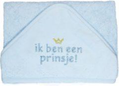 Blauwe Petit Villain Badcape Ik ben een prins